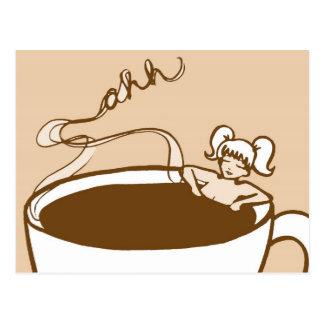 Relajación con cacao tarjeta postal