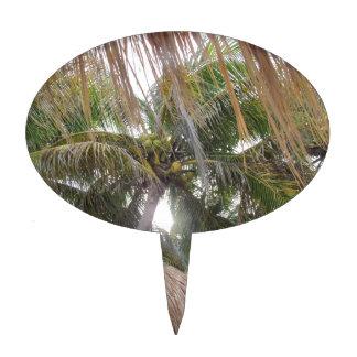 Relajación debajo de las palmeras decoraciones para tartas
