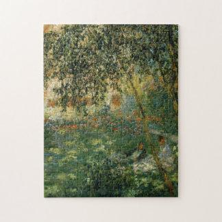 Relajación en bella arte de Argenteuil Monet del Rompecabezas