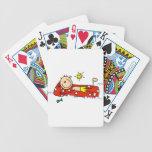 Relajación en el colchón de aire barajas de cartas