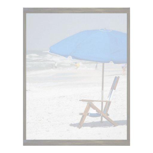 Relajación en el papel con membrete de la playa plantilla de membrete