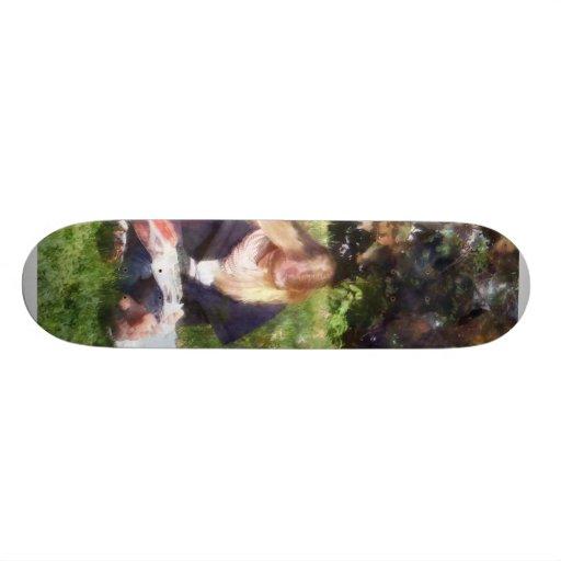 Relajación en el parque skate board