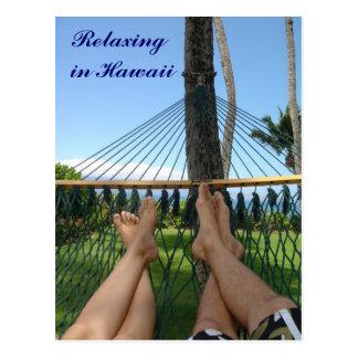 Relajación en Hawaii Tarjetas Postales