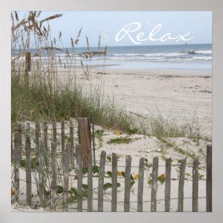 Relajación en la playa póster
