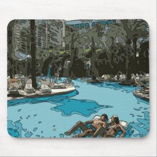 Relajación por el lado de la piscina en Vegas Tapetes De Ratón