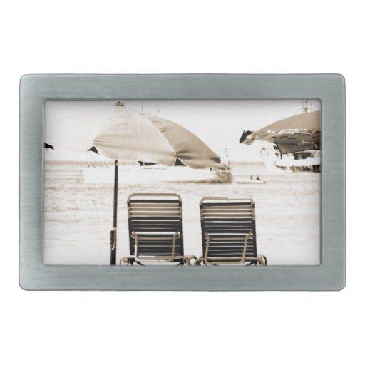 Relajación por la playa hebillas de cinturon rectangulares