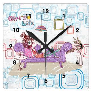 Relajación Reloj Cuadrado