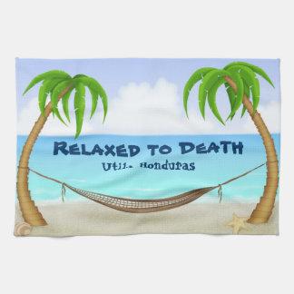 Relajado a la playa de Utila Honduras de la muerte Toalla De Mano