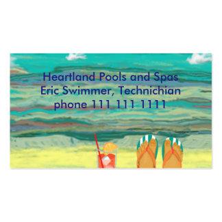 Relajándose en la playa, personalizable tarjetas de visita