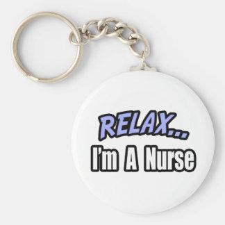 Relaje… a la enfermera llavero redondo tipo pin