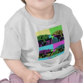 Relaje - el gato del arte pop camisetas