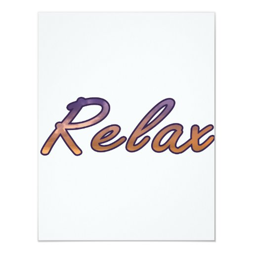 Relaje el naranja púrpura de la nube resumido invitación 10,8 x 13,9 cm