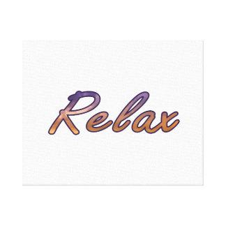 Relaje el naranja púrpura de la nube resumido lona estirada galerías