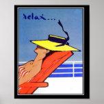 Relaje el poster del vintage del viaje