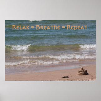Relaje el ~ respiran la repetición del ~ póster