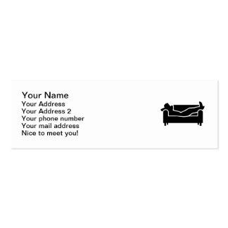 Relaje el sofá tarjetas de visita mini