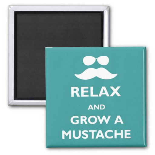 Relaje y crezca un bigote imán cuadrado
