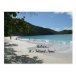 ¡Relájelo… es tiempo de la isla! Postal