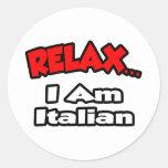Relájeme… son italiano pegatina