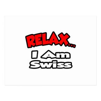 Relájeme… son suizo tarjeta postal
