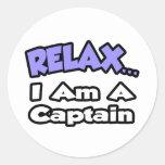 Relájeme… son un capitán etiquetas redondas