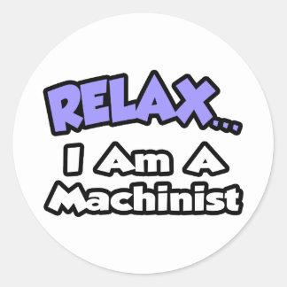 Relájeme… son un maquinista etiquetas redondas