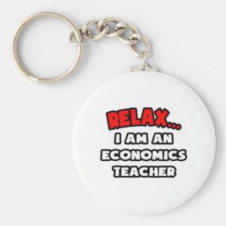 Relájeme… son un profesor de la economía llavero personalizado