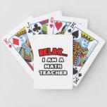 Relájeme… son un profesor de matemáticas cartas de juego