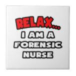Relájeme… son una enfermera forense azulejos cerámicos