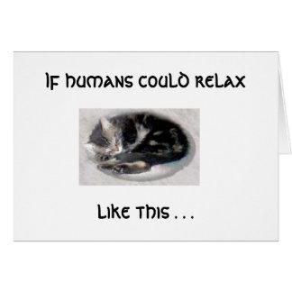 Relájese como un gato tarjeta pequeña