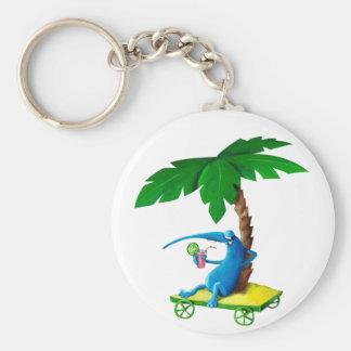 Relájese en la playa llavero personalizado