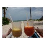 Relájese en la playa postal