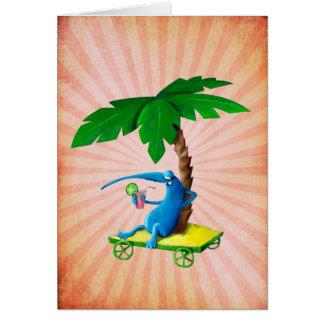 Relájese en la playa tarjeta de felicitación