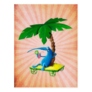 Relájese en la playa tarjeta postal