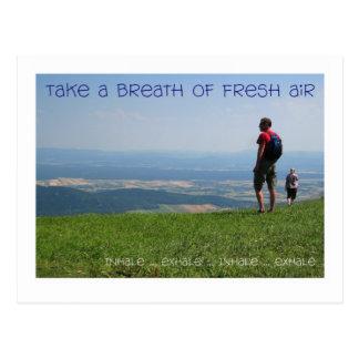 Relájese - inhale/exhale tarjetas postales