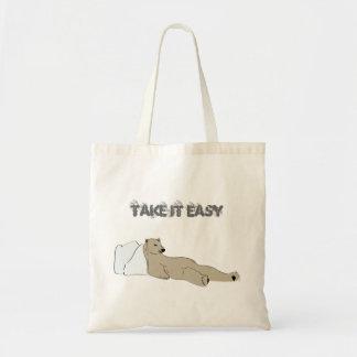 relájese le toman el oso polar fácil bolsas de mano