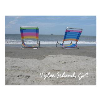Relájese por la playa postal