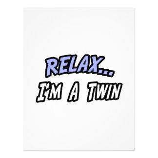 Relájese yo son un gemelo tarjetas informativas