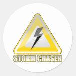 Relámpago 2 del cazador de la tormenta etiqueta