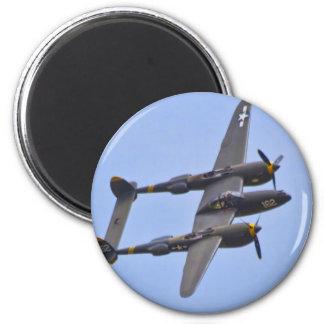 Relámpago a de Lockhhe P-38J Imán Redondo 5 Cm
