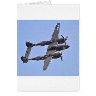 Relámpago a de Lockhhe P-38J Tarjeta