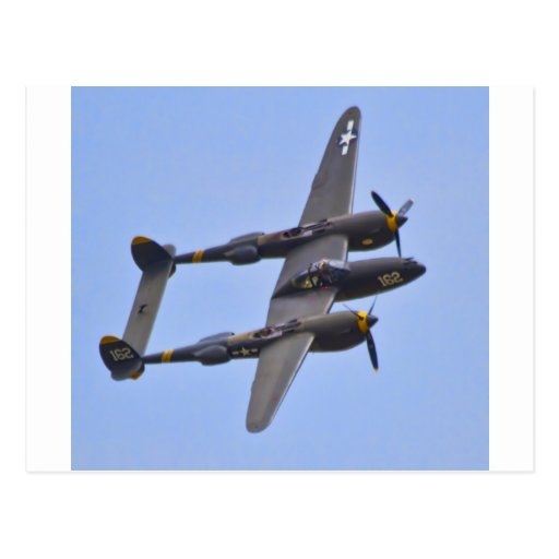 Relámpago a de Lockhhe P-38J Tarjetas Postales