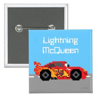 relámpago de 8 bits McQueen Pin Cuadrado
