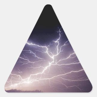 Relámpago de la noche colcomanias triangulo