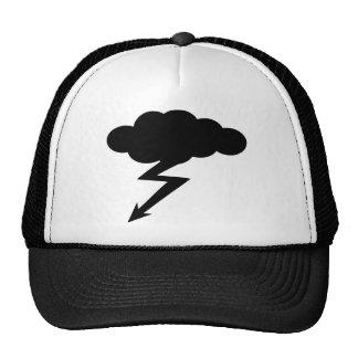 relámpago de la tempestad de truenos gorras de camionero