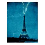 Relámpago de la torre Eiffel Postal
