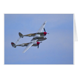Relámpago de Lockeed P-38J Tarjeta De Felicitación