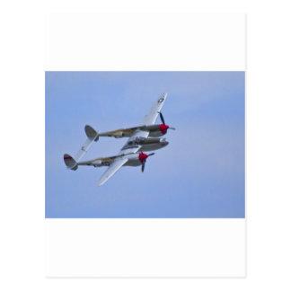 Relámpago de Lockeed P-38J Postal