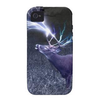 Relámpago de los ciervos vibe iPhone 4 carcasa