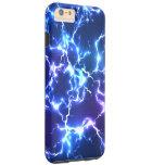 Relámpago de Tunderstorm del cielo nocturno Funda De iPhone 6 Plus Tough